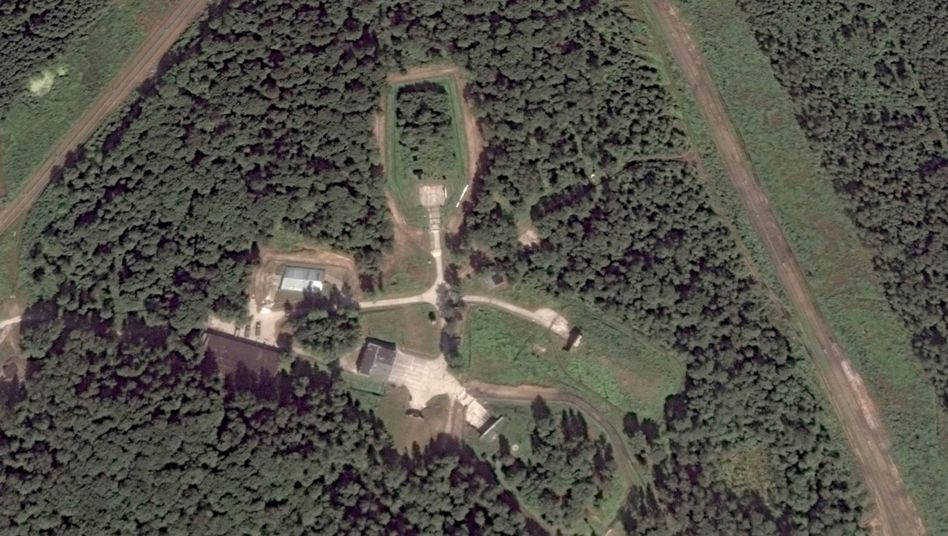 Luftaufnahme von Gelände in Kaliningrad