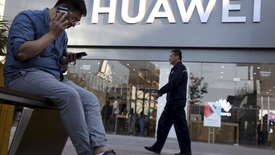 Huawei-Geschäft in Peking