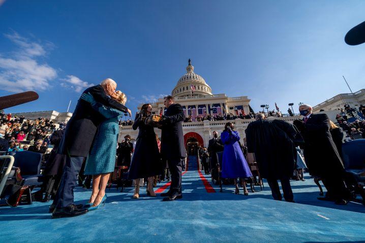 Blauer Himmel in D.C.: Feiertag für Amerika