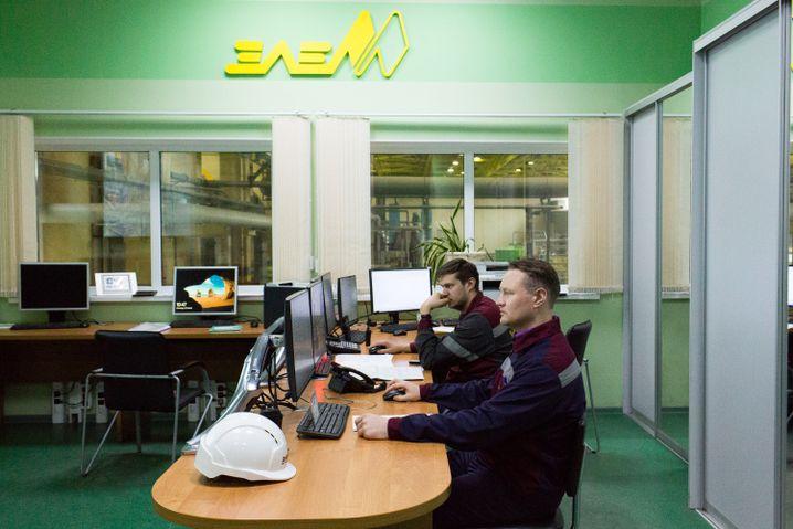 Alexej würde gern irgendwann einmal eine Werkshalle leiten, er ist Vorsitzender der Gewerkschaft in seinem Bereich