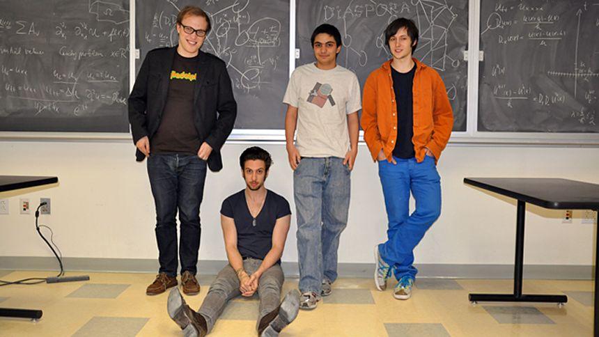 Studenten Maxwell, Daniel, Raphael und Llya: Den Nerv der Zeit getroffen