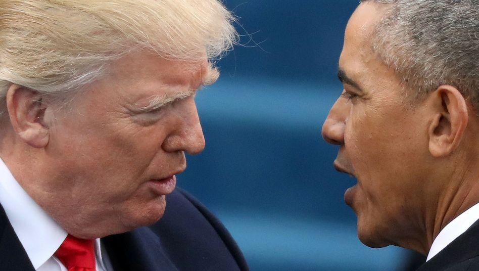 Donald Trump und Barack Obama (Archivbild)