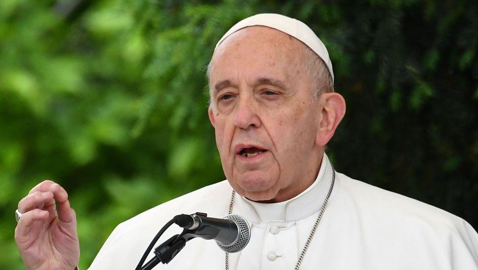 Papst Franziskus (am 7. Mai im mazedonischen Skopje)