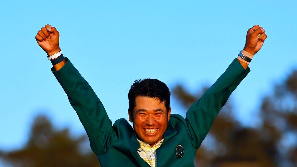 Masters-Sieger Hideki Matsuyama in Augusta im US-Bundesstaat Georgia: »Ich hoffe, ich war in der Lage, die Schleusen zu öffnen«
