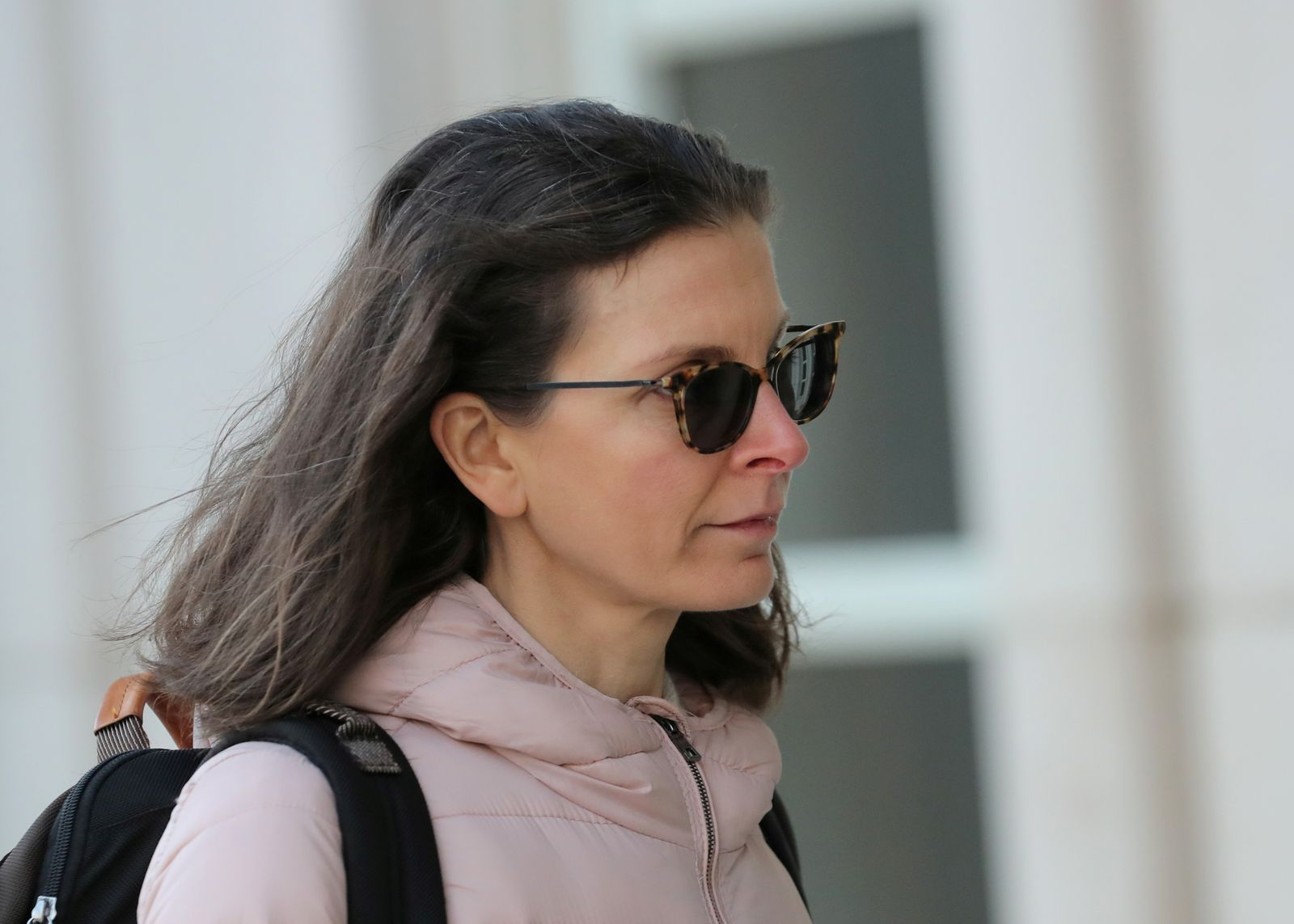 FILE PHOTO: Clare Bronfman, an heiress of the Seagram's liquor empire, arrives at the Brooklyn Federal Courthouse, for her trail regarding sex trafficking and racketeering related to the Nxivm cult in the Brooklyn borough of New York