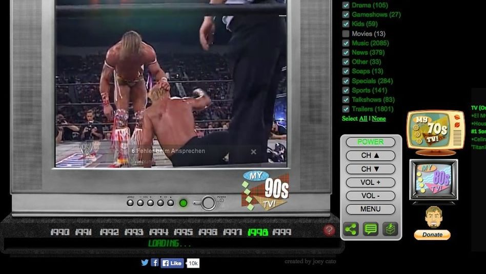 Wrestling-Show: Der TV-Simulator zeigt das Fernsehen von vor 20 Jahren