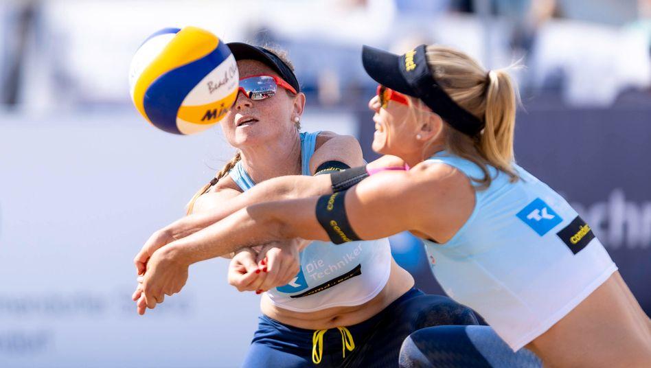Julia Sude und Karla Borger bei der Deutschen Meisterschaft 2020