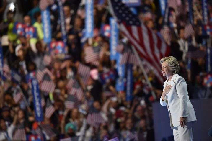 Hillary Clinton beim Parteitag in Pennsylvania