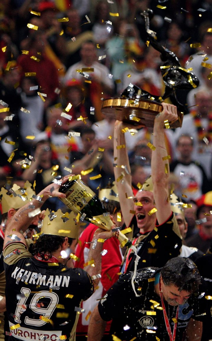 Weltmeister 2007: Unter Handballtrainer Heiner Brand wird Glandorf WM-Champion