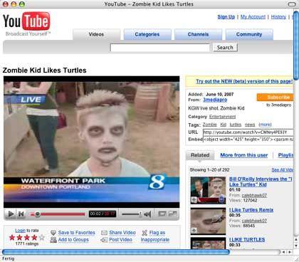 """""""Zombie-Kid""""-Jonathon Ware: """"Ich finde das wirklich lustig"""""""