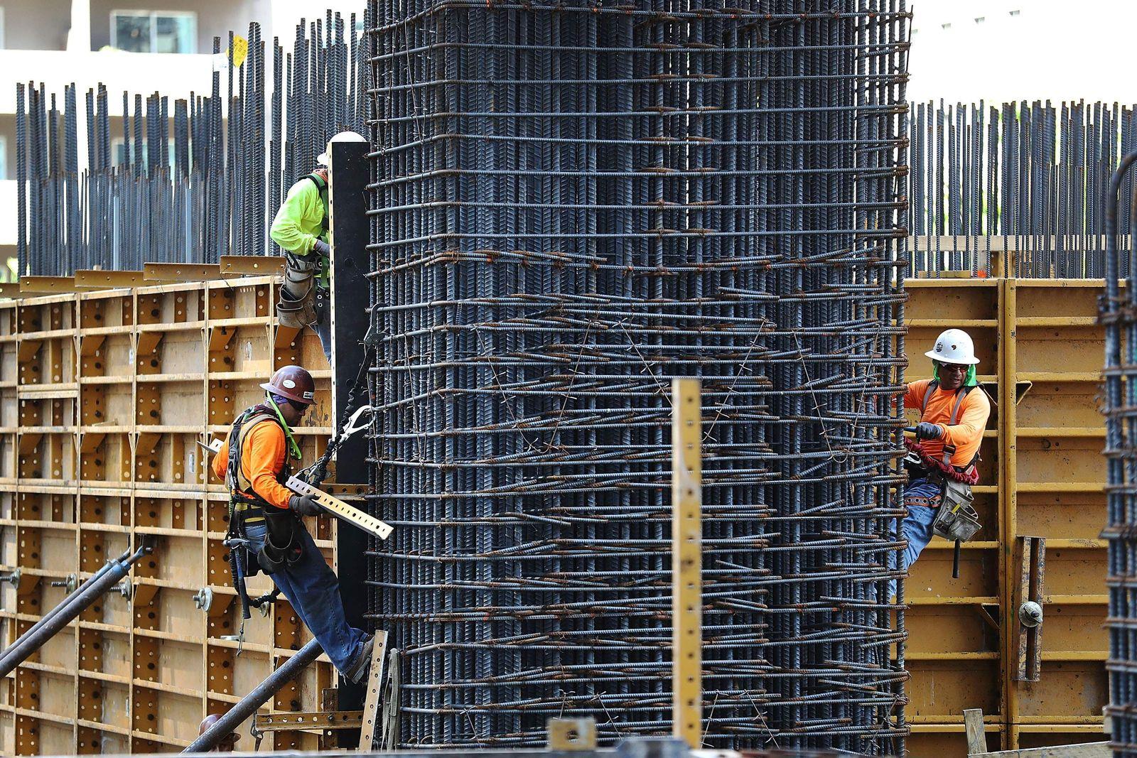 USA / Konjunktur / Wirtschaft / Bauarbeiter / Baustelle / Arbeutslosigkeit