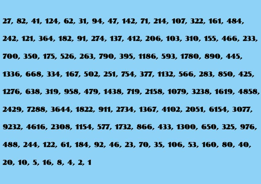 Collartz/ Mathematik/ Zahlenbild