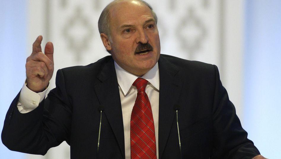 Weißrusslands Präsident Alexander Lukaschenko: Gesetz gegen ungeliebte Demonstranten