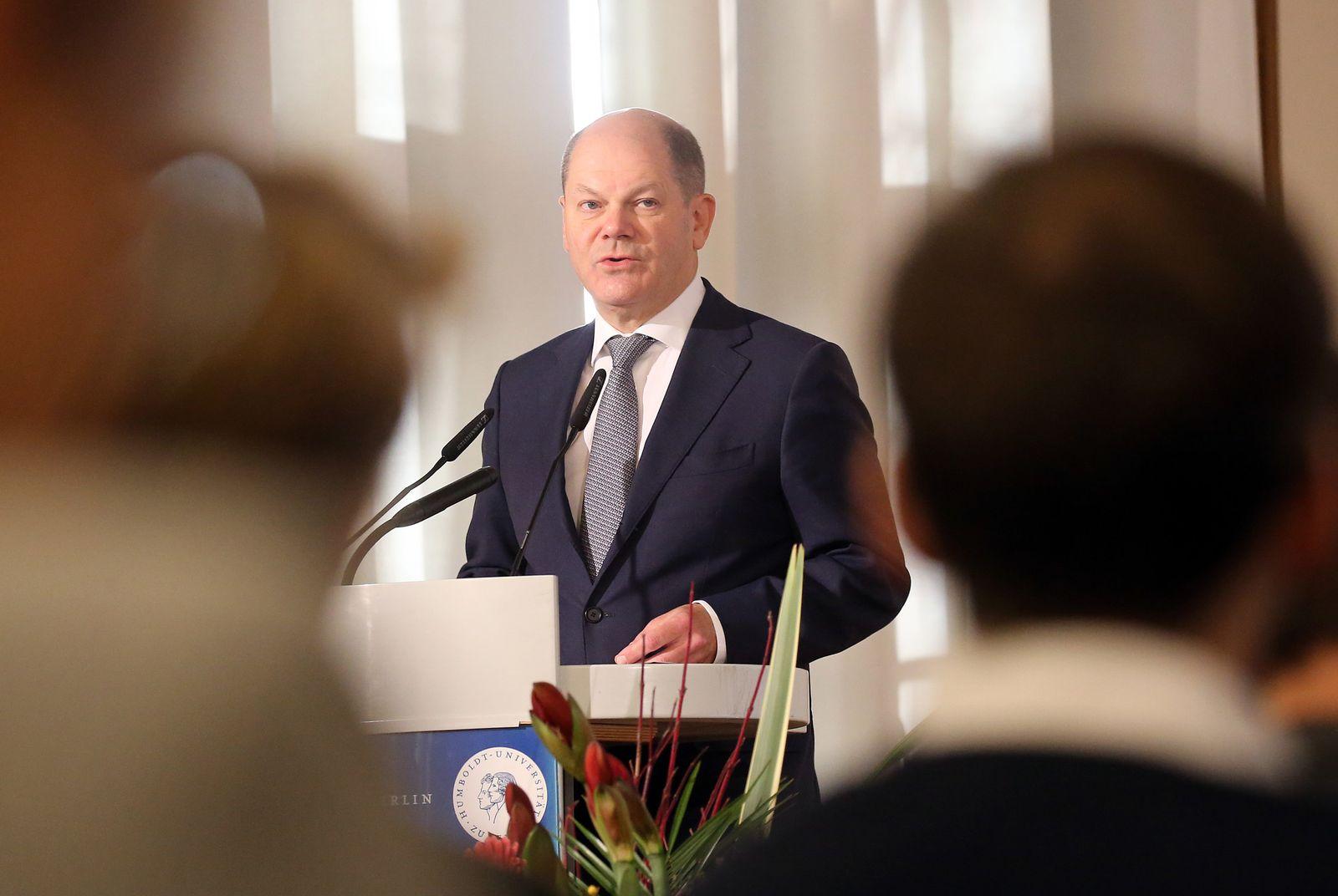 Finanzminister Scholz an der Humboldt-Universität