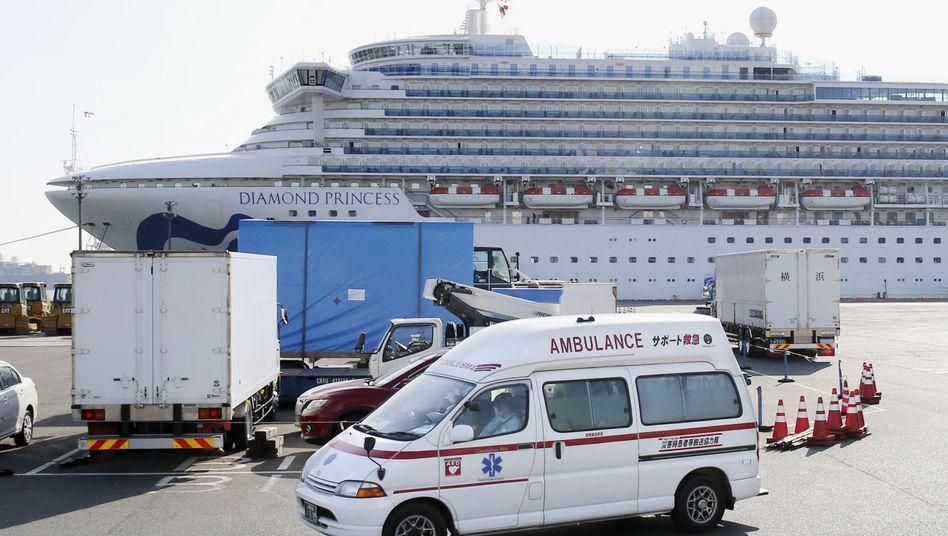 """""""Diamond Princess"""" in Yokohama: Ausschiffung aller Gäste abgeschlossen"""