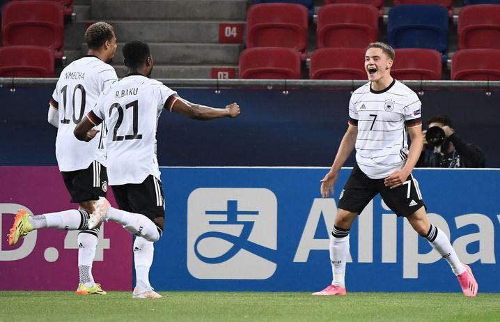 Wirtz scored both goals against the Netherlands