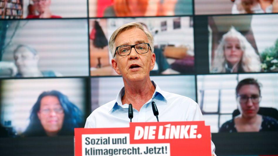 Linken-Spitzenkandidat Dietmar Bartsch beim Onlineparteitag