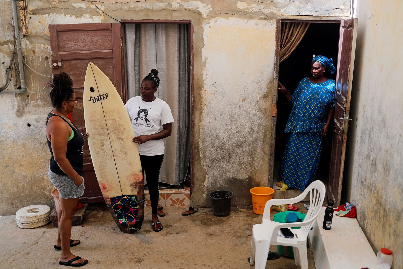 Wider Image: Meet Senegal's first female pro surfer inspiring girls to take to the waves