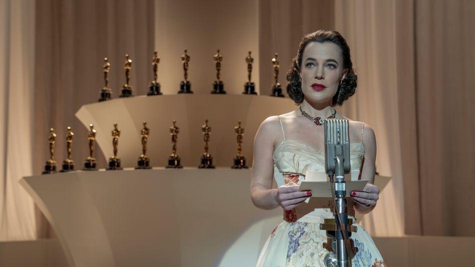 """Oscar-Zeremonie in der Serie """"Hollywood"""": Die meisten Skandale sind echt, die Dreharbeiten im Zentrum der Story sind erfunden."""