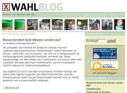 """Das """"Wahlblog"""": """"Schlichtweg dumme Propaganda""""?"""