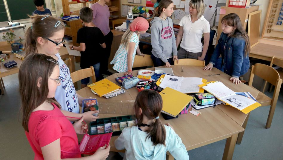 Englischunterricht an der Martinschule in Greifswald, Gewinnerin des Deutschen Schulpreises 2018