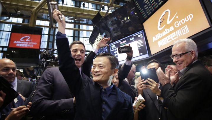 Onlinehändler Alibaba: Weltrekord beim Wall-Street-Debüt