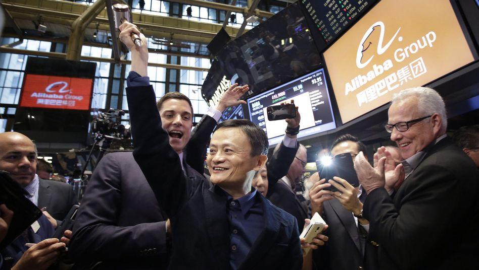 Debüt an der Wall Street: Alibaba schafft Rekord-Börsengang