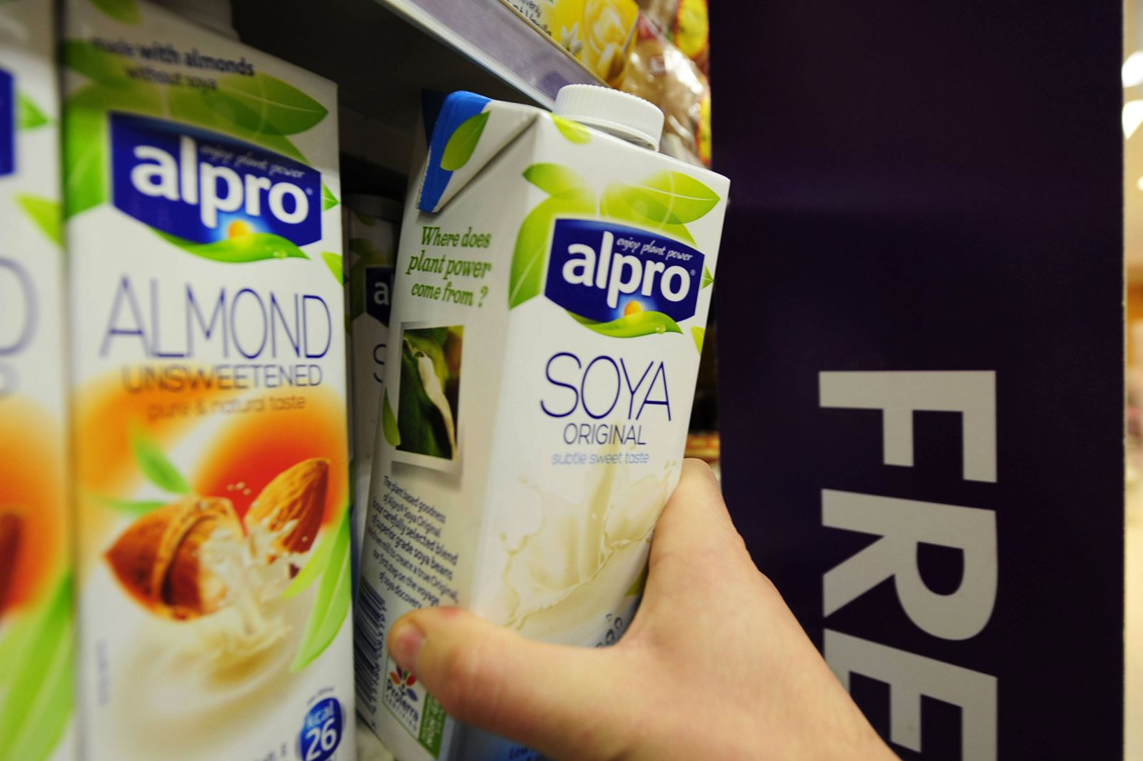 EINMALIGE VERWENDUNG alpro soya