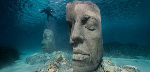 Unterwasser-Museum von Jason deCaires Taylor in Cannes: Zeit der Maske
