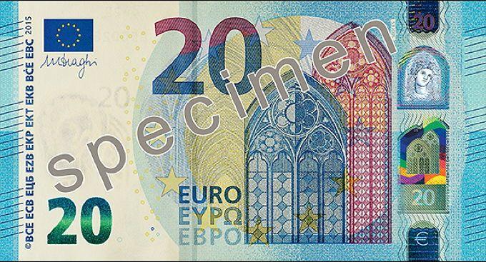 Vorderseite der neuen 20-Euro-Banknote: Deutlich schwerer zu fälschen