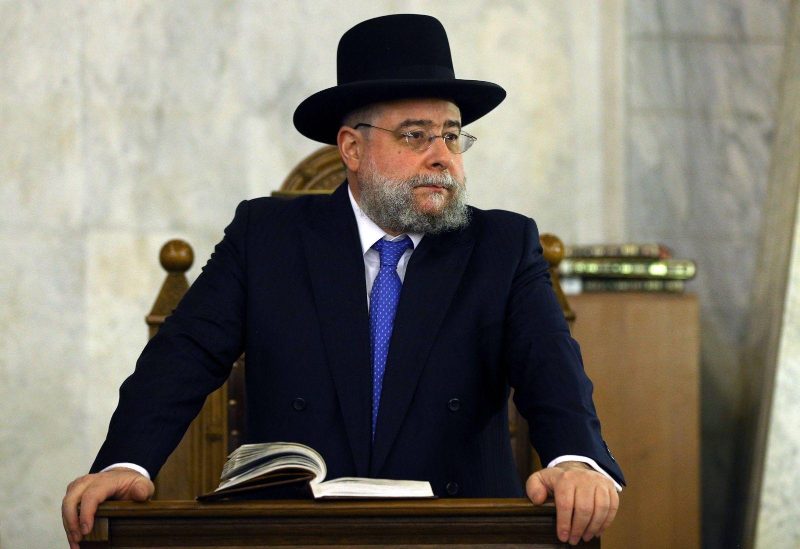 EINMALIGE VERWENDUNG Pinchas Goldschmidt/ Vorsitzende der Europäischen Rabbinerkonferenz