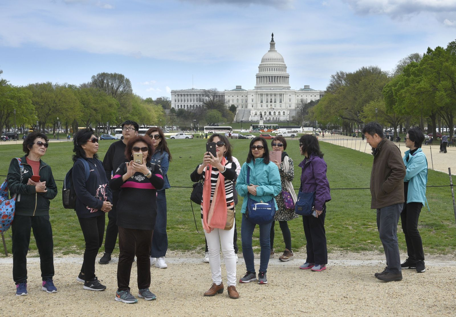 EINMALIGE VERWENDUNG Chinesische Touristen/ Washington USA
