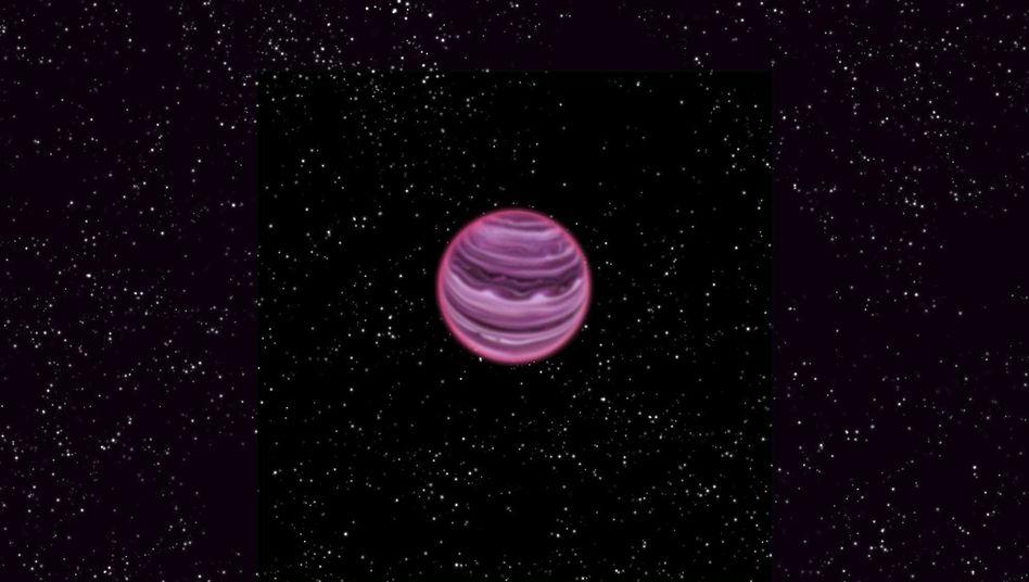Junger Gas-Exoplanet (Illustration): Mit knapp zwölf Millionen Jahren gehört PSO J318.5-22 zu den Jungspunden unter den Planeten
