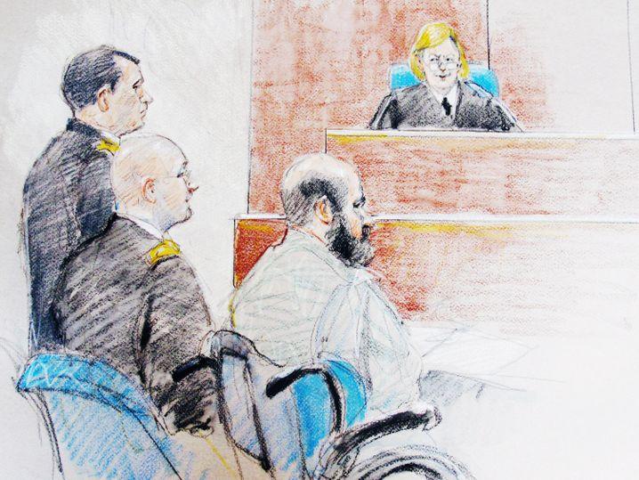 Nidal Hasan während einer Anhörung vor Beginn des Prozesses