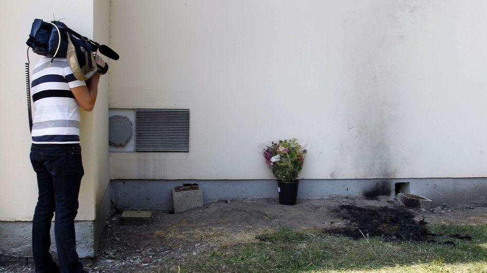 Brandspuren vor France-Télécom-Gebäude: Mitarbeiter verbrannt