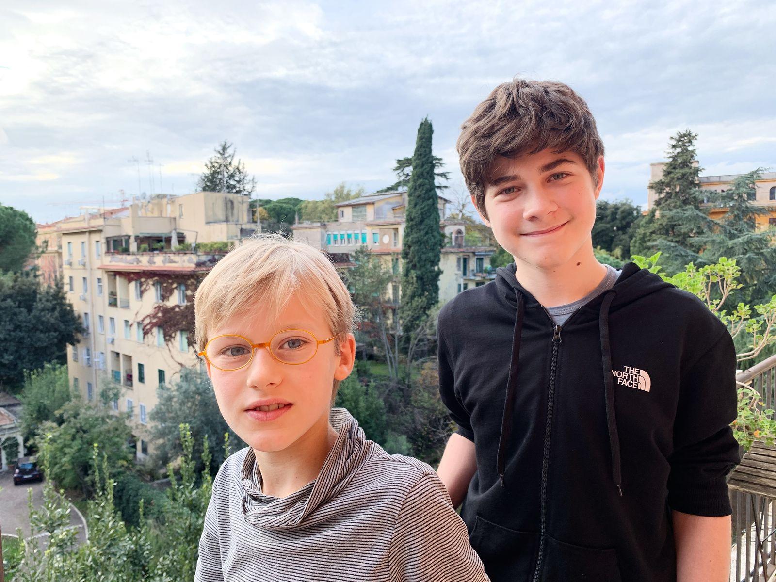 EINMALIGE VERWENDUNG Klimaprotokoll/ Italien/ Mattia/ Carlo