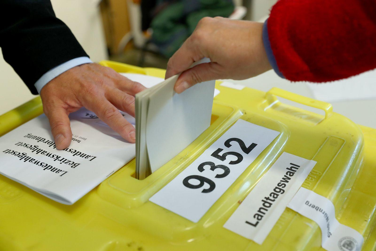Landtagswahl in Bayern/ Wähler