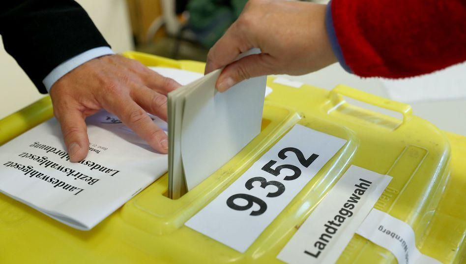 Stimmabgabe bei der Landtagswahl in Bayern