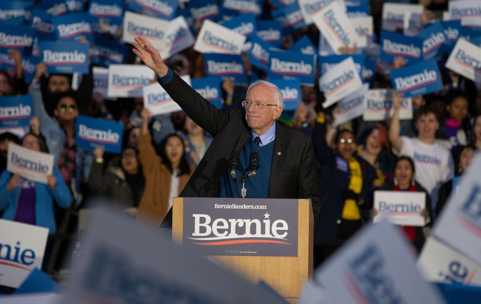 Democratic presidential candidate Bernie Sanders at Ann Arbor at University of Michigan rally, USA - 08 Mar 2020