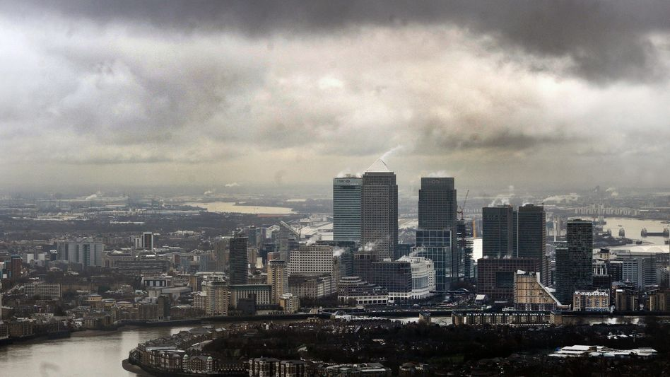 """The financial district in London, where Mayor Boris Johnson called the cap a """"deluded measure."""""""