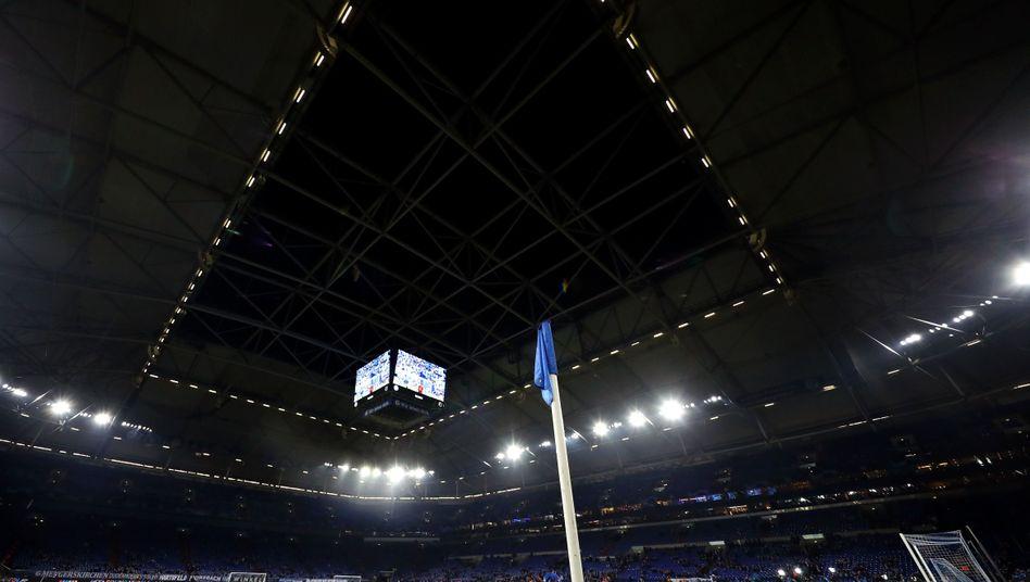Die Schalker Arena beim Duell gegen Manchester City