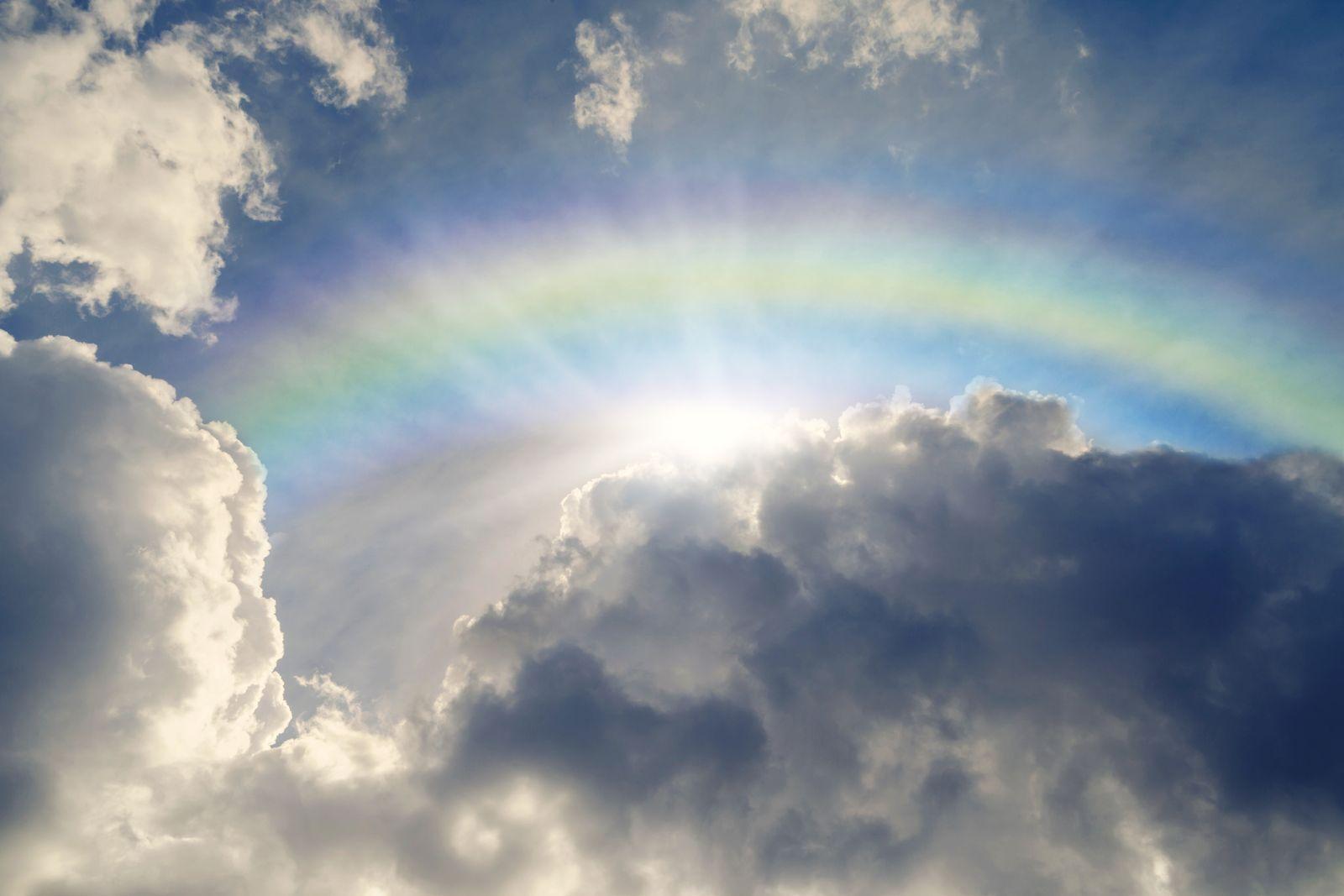 EINMALIGE VERWENDUNG Regenbogen