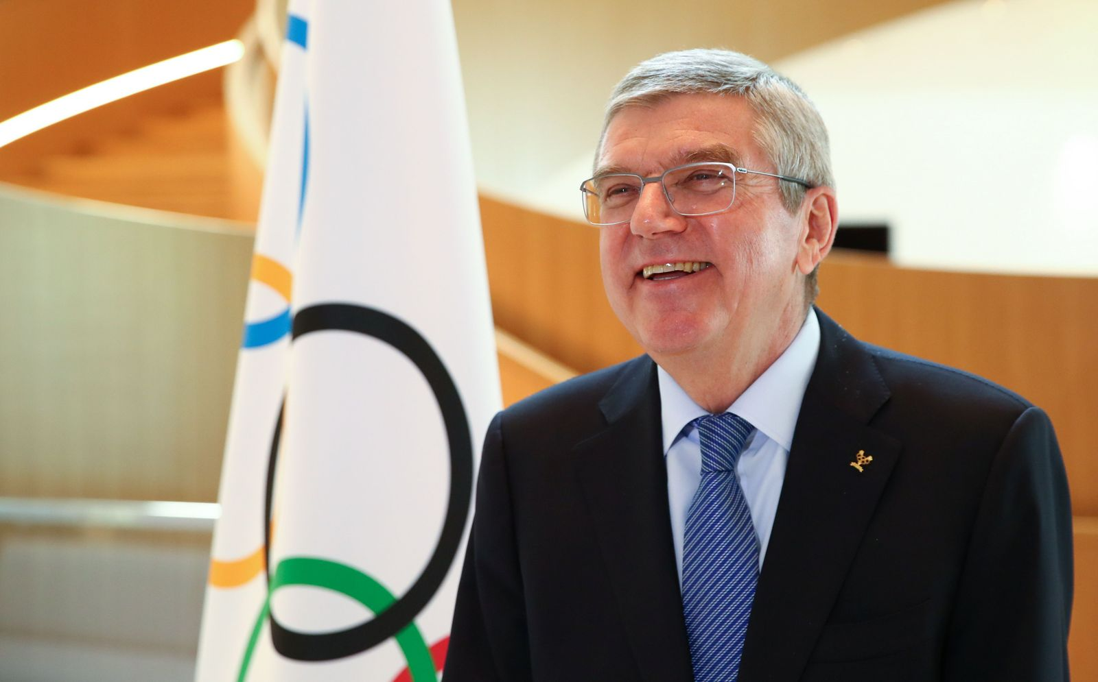 Interview with IOC President Bach after Tokyo 2020 postponement decision, Lausanne, Switzerland - 25 Mar 2020