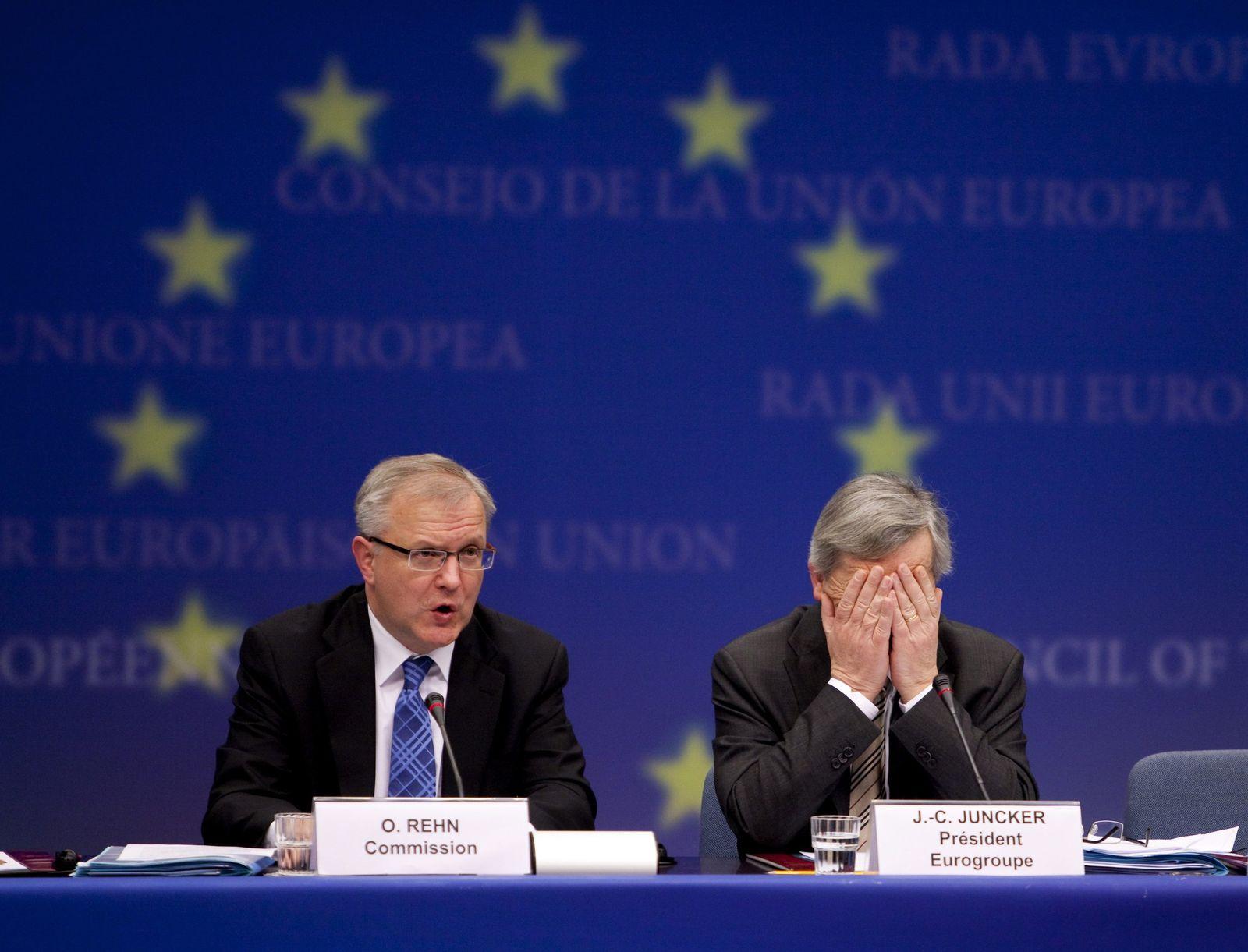 Juncker / Rehen / Zeitleiste Euro-Krise