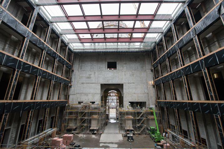 Baustelle des Berliner Schlosses: Noch ohne Geist der Gebrüder von Humboldt