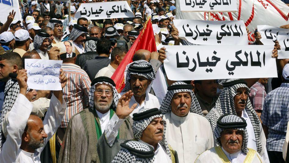 Maliki-Anhänger in Bagdad: Rivalisierende Schiiten ringen um die Regierungsspitze