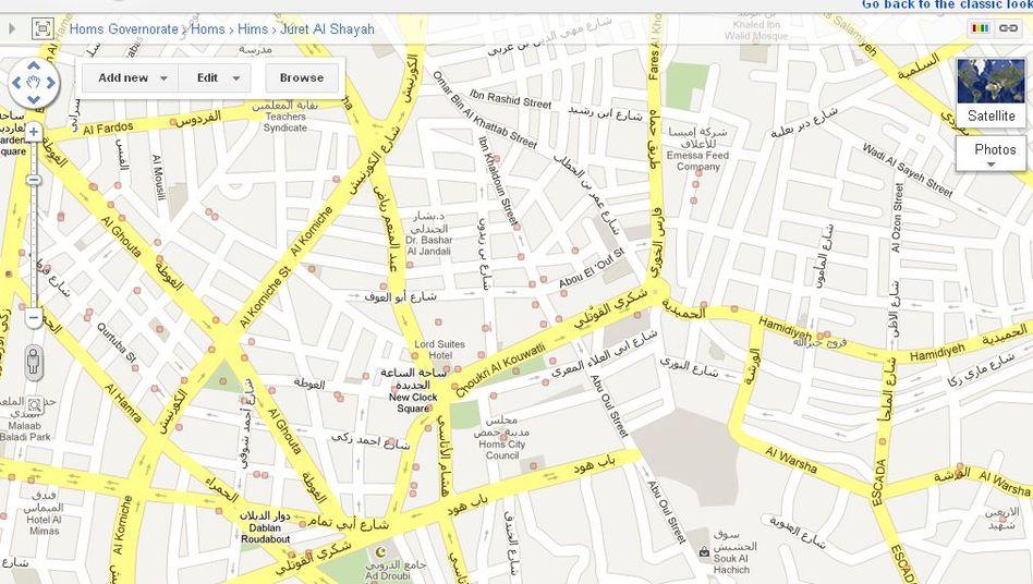 Google-Tool Map Maper: Online-Protest gegen Assad