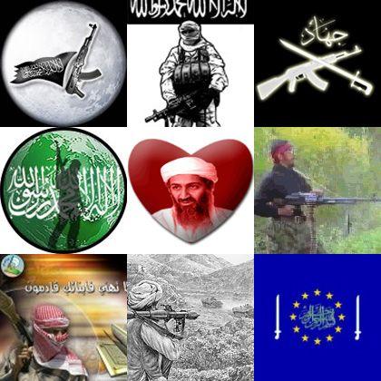 """Solche Fanbildchen werden in Internetforen als """"Dschihad-Avatare"""" ausgetauscht"""