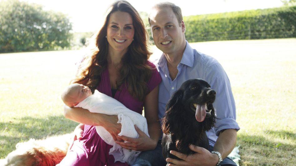 Königliche Kleinfamilie mit Hund (im Jahr 2013): Trauer um Lupo