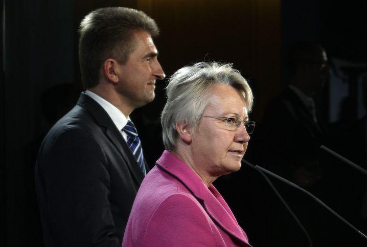 Der frühere NRW-Wissenschaftsminister Andreas Pinkwart (links) und die frühere Bundesbildungsministerin Annette Schavan (2009)